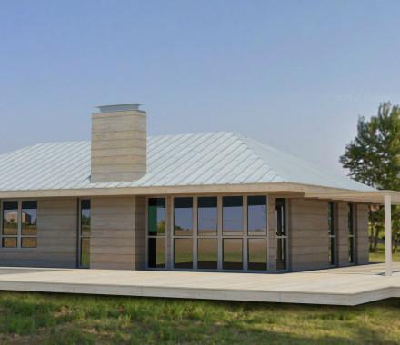 Progetto per una casa in legno