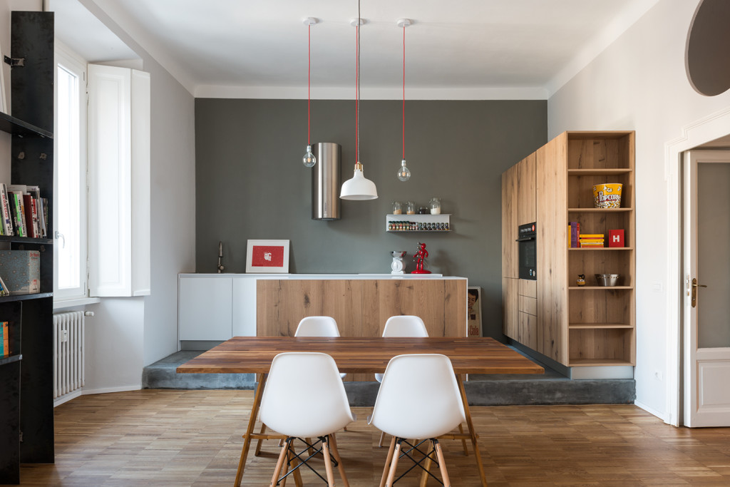 cucina legno grigio